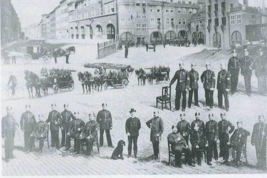 Berufsfeuerwehr um 1910