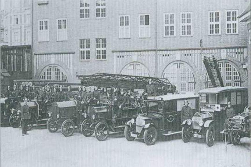 Görlitzer Berufsfeuerwehr um 1920
